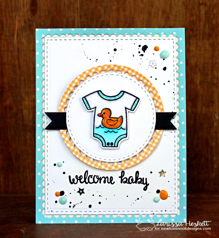 Welcome baby by Larissa featuring Lovable Laundry by Newton's Nook Designs, #newtonsnook