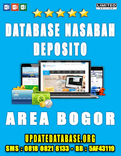 Jual Database Nasabah Deposito Bogor