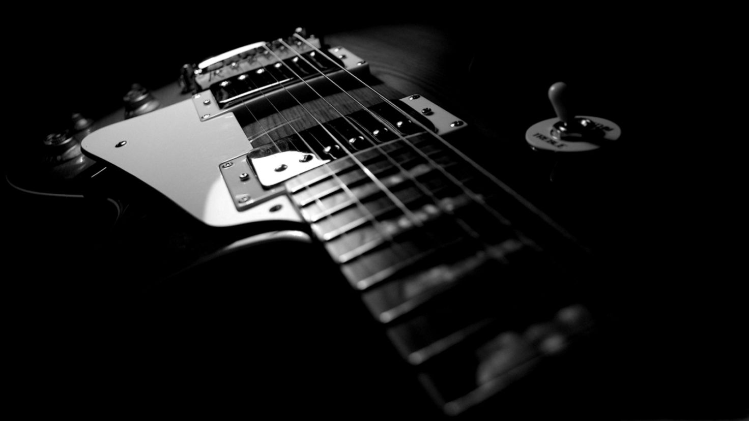 Guitar Music Gibson Monochrome Hd Wallpaper