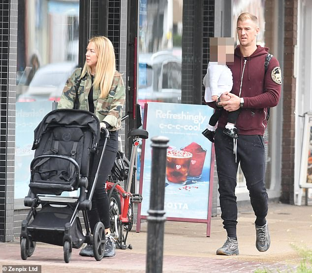 Joe Hart enjoys a day out with wife Kimberley in Hale