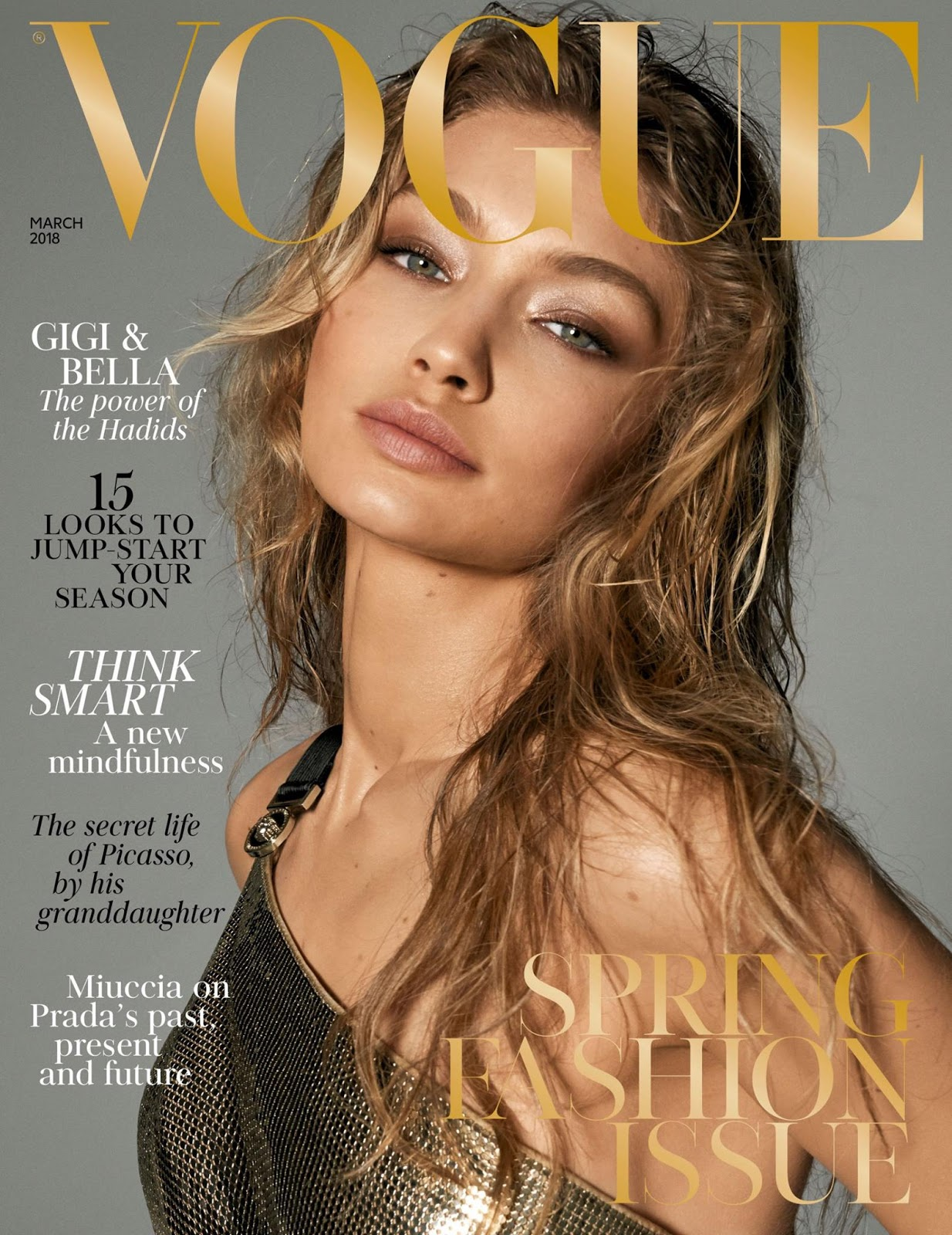 Gigi Hadid, Bella Hadid for Vogue UK March 2018 Covers