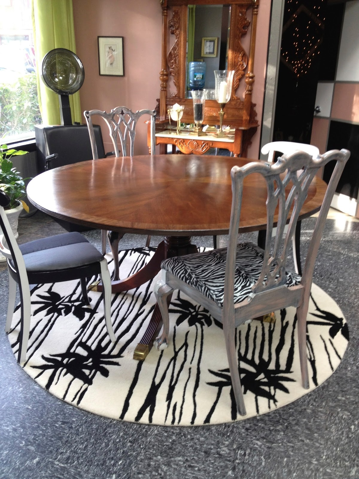 Mismatched Dining Chairs Cheetah Print Folding Chair C Dianne Zweig Kitsch 39n Stuff Painting