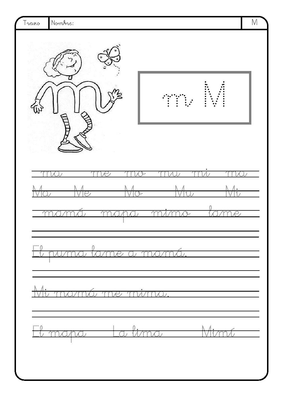 La Letra M M La Eduteca