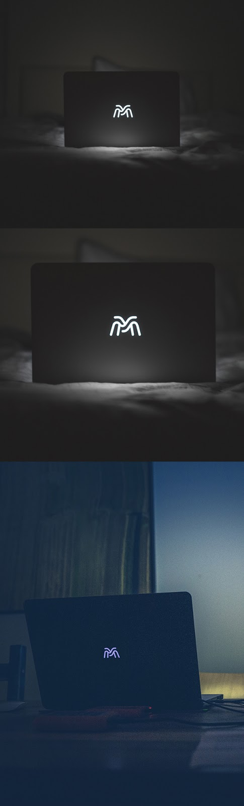 Download Free Mockup PSD 2018 - Free Backlight Macbook Logo Mockup