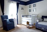 Dormitorio para bebé color azul