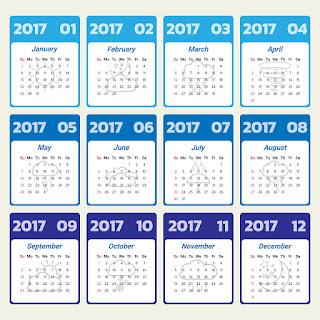 2017カレンダー無料テンプレート126