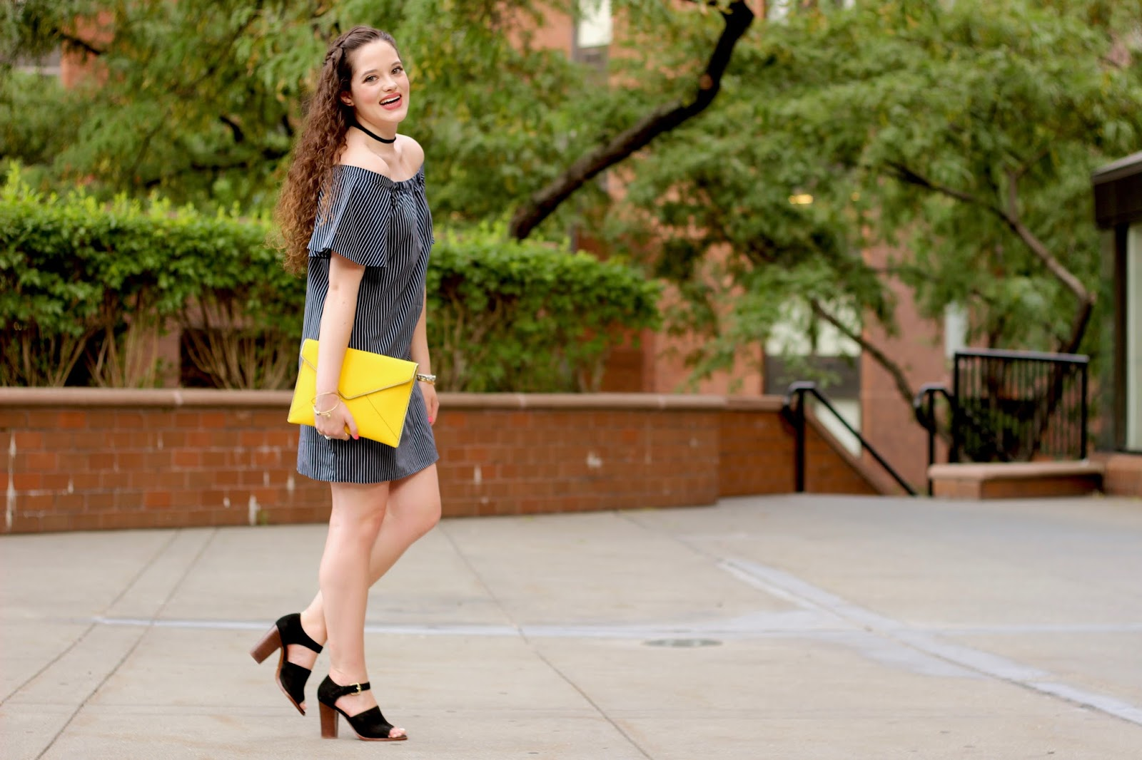 summer street style off the shoulder