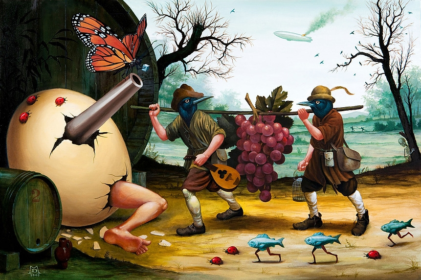 11-The-Other-Side-of-the-Bridge-Mike-Davis-Surreal-Paintings-that-hide-a-lot-of-Symbolism-www-designstack-co