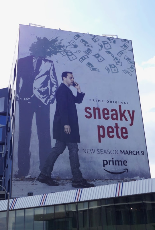 Giant Sneaky Pete season 2 billboard