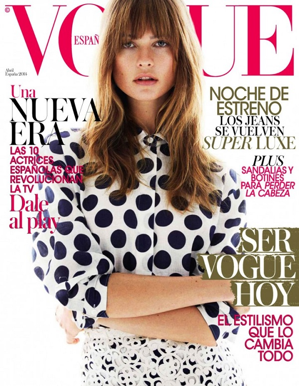 Behati Prinsloo heads to the beach for the Vogue Spain April 2014 Cover Story