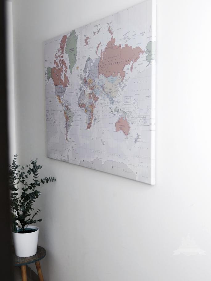 Weltkarte als Wanddeko