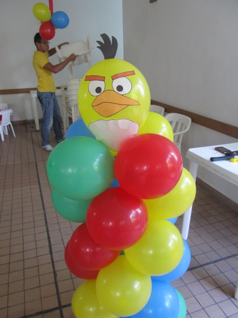 Decoracion angry birds fiestas infantiles for Globos decoracion fiestas