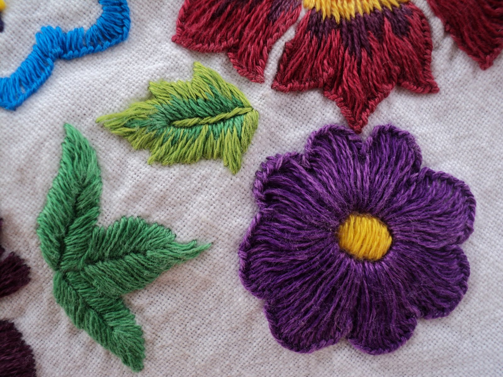 Welcome To Savitha's Home: Flowers in Embroidery