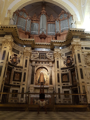 Top to bottom in the cathedral in Murcia