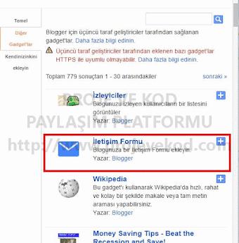 Blogger'a iletişim formu ekleme