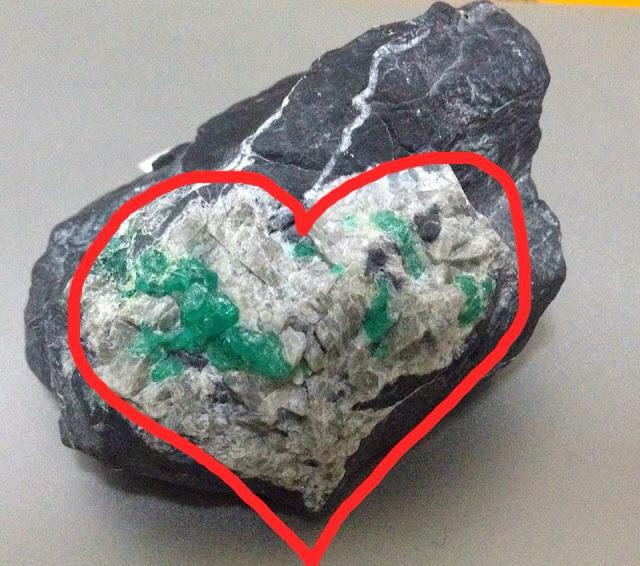 美石收藏    祖母綠之心