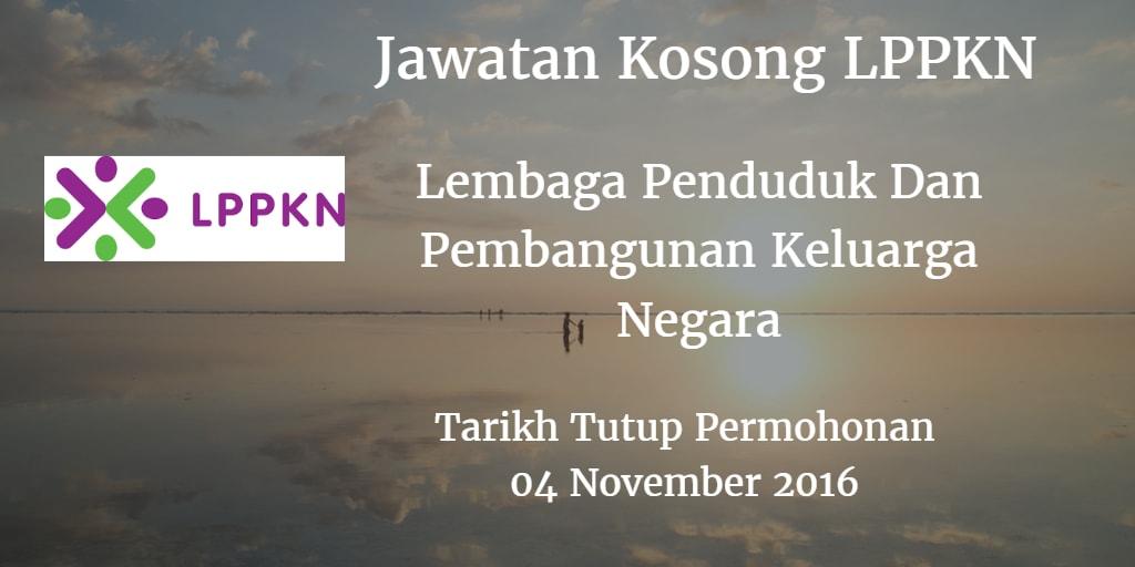 Jawatan Kosong LPPKN 04 November 2016