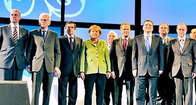 Angela Merkel and colleagues