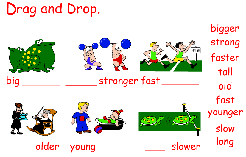 PRIMARY EDUCATION BLOG FOR LEARNING ENGLISH LANGUAGE: COMPARATIVE ADJECTIVES IN ENGLISH