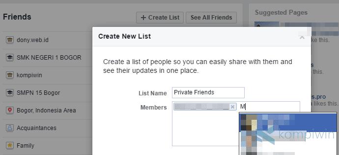 agar status facebook tak dibaca orang lain