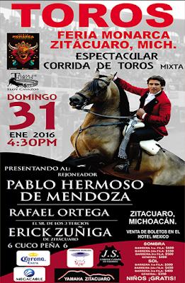 corrida de toros feria zitácuaro 2016