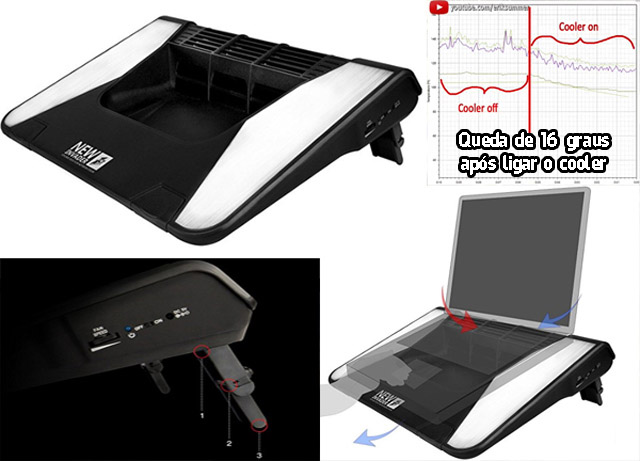 cooler poderoso para notebook gamer