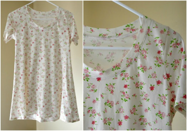 Me Made {Postpartum}: Floral Swing Tee and Asymmetrical Swing Tee