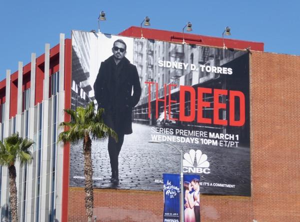 The Deed series premiere billboard