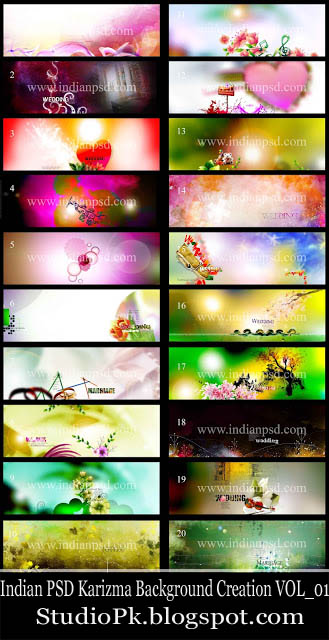 Indian PSD Karizma Background Creation VOL_01