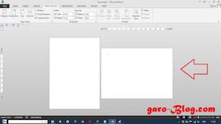 Cara Setting Kertas Potrait dan Landscape Dalam Satu File di Microsoft Word 2013 - garo-Blog