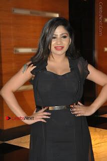 Telugu Actress Model Madhulagna Das Latest Spicy Stills in Black Short Dress  0029.JPG