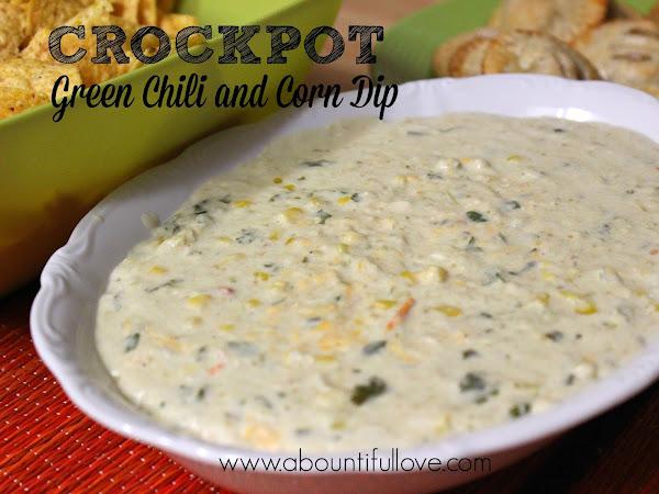 Crockpot Green Chili and Corn Dip