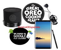 Logo Concorso ''The Great Oreo Cookies Search'': vinci Samsung Galaxy Note8, Cuffiette e altoparlanti e non solo!