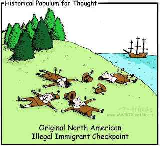 Illegal Immigrant Checkpoint Cartoon