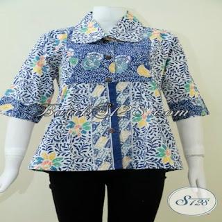 model blouse batik kerja modern