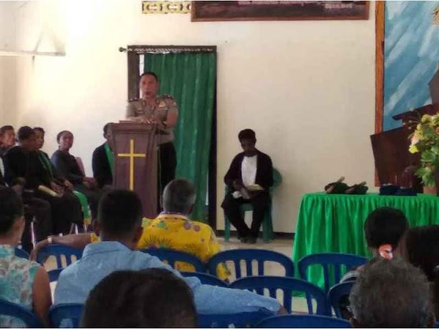 Gelar Safari Rohani Polres MBD, Horsair Kunjungi Pulau Lirang