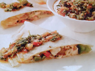 Gambar Resep Chicken Quesdillas Isi Salsa