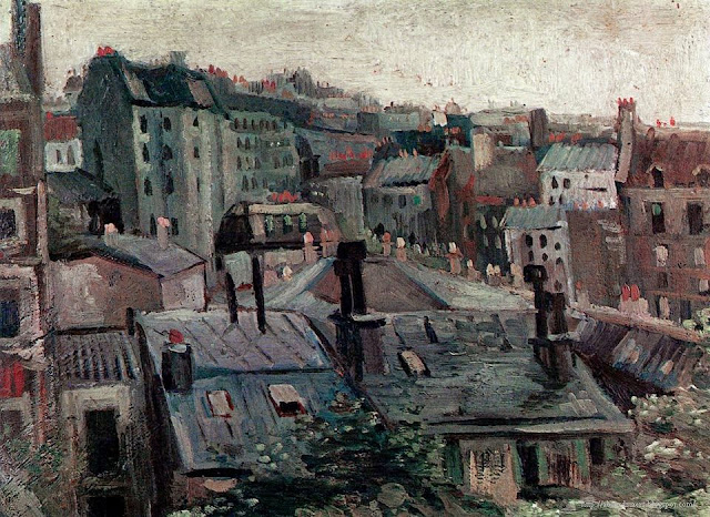 Vincent Van Gogh Paris Roofs 1885