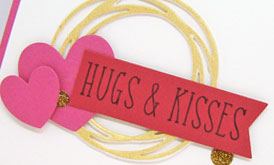 Hugs & Kisses card-designed by Lori Tecler/Inking Aloud-stamps and dies from Reverse Confetti