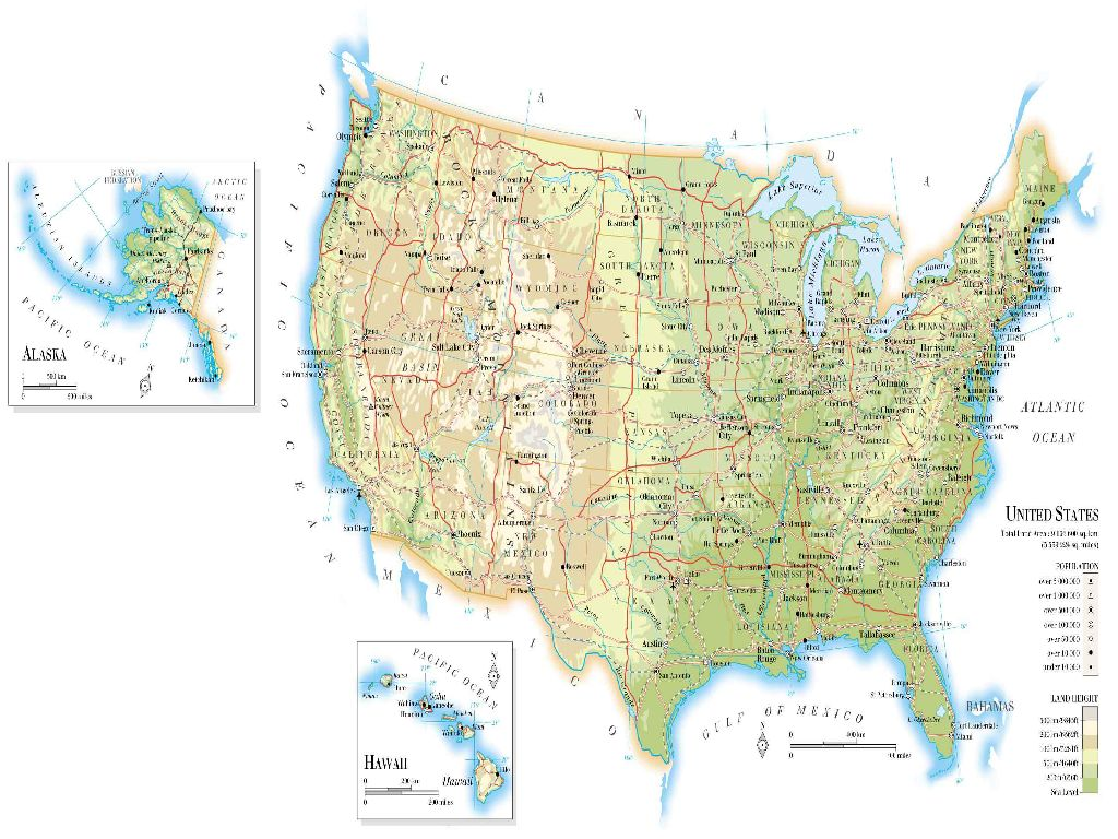 united states map large