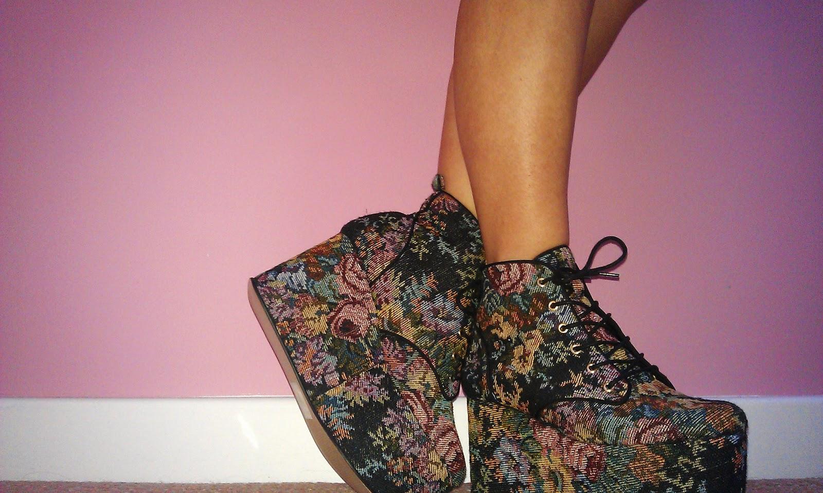 ASOS Tapestry Flatform Shoes