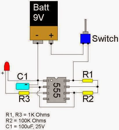 1000 Watts Power Amplifier Schematic Diagrams Led Flasher Circuit Using 555 Timer Ic Elec Eng World