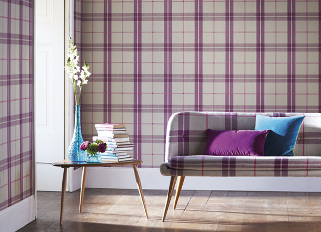 Sofa Cream Nz Eye For Design: Decorating With Plaid Covered Walls