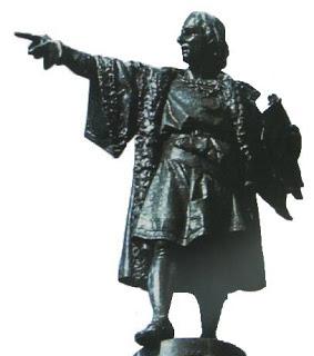 Foto a la estatua de Cristobal Colón