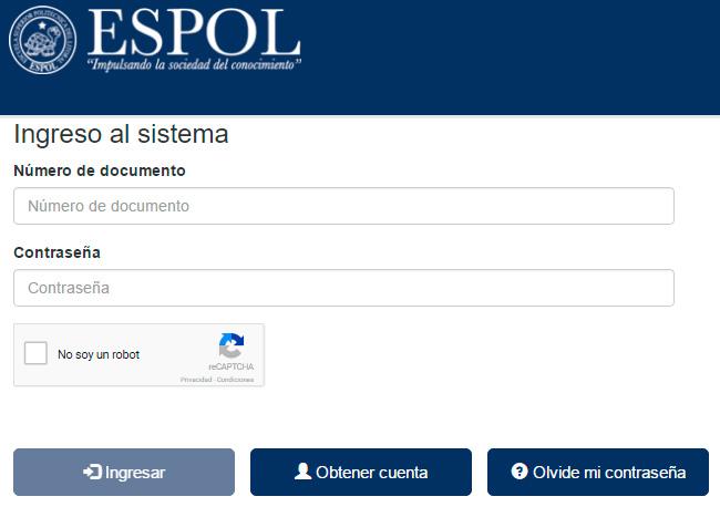 Consultar Asignación Cupo ESPOL   Resultados Escuela Politécnica del Litoral