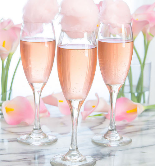 COTTON CANDY CHAMPAGNE COCKTAILS #healthydrink #cocktail