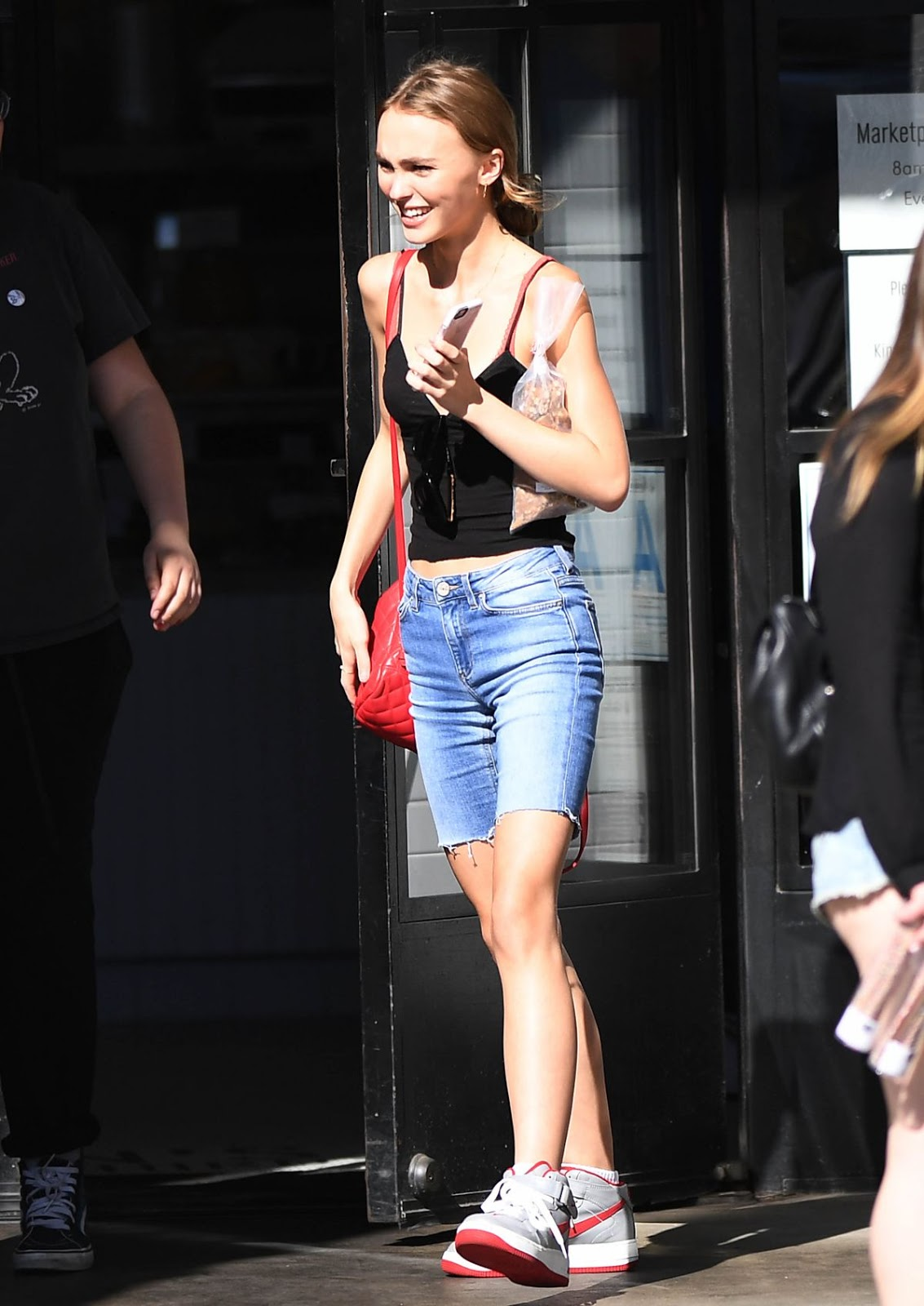 Lily-Rose Depp in Jeans Shorts