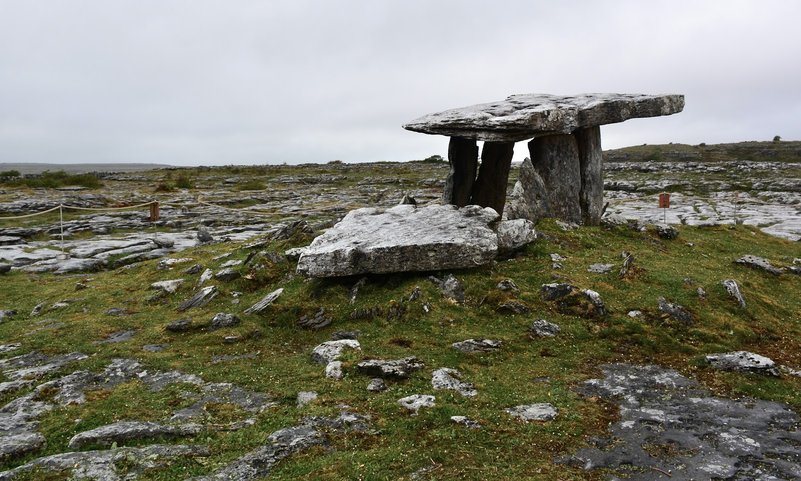 Dolmen portal tomb in the Burren, Ireland