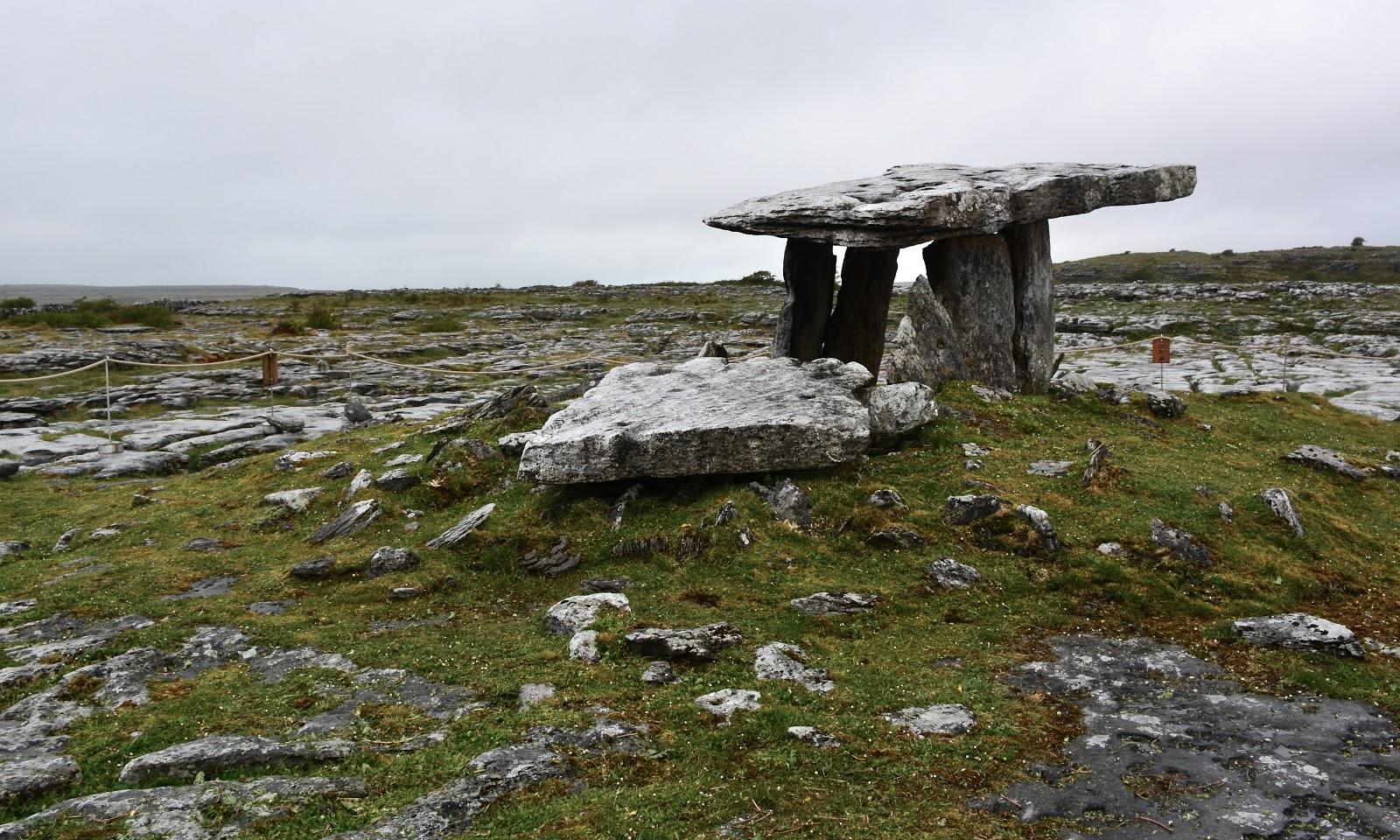Dolmen portal tomb in the Burren, Ireland