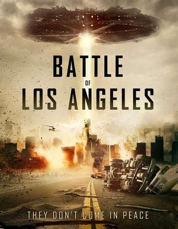 Poster Of Battle of Los Angeles 2011 Hindi Dual Audio 500MB BluRay 720p ESubs HEVC Free Download Watch Online downloadhub.in